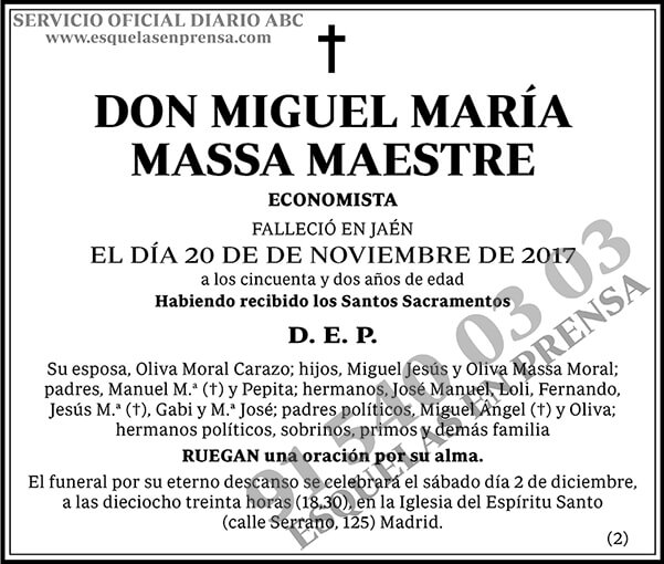 Miguel María Massa Maestre